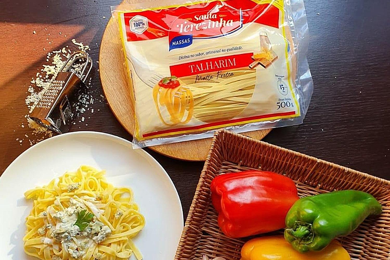 Receita de Talharim Santa Terezinha com molho gorgonzola